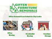 Office Removal from Suburb to City Center by Giffen Furniture Removals