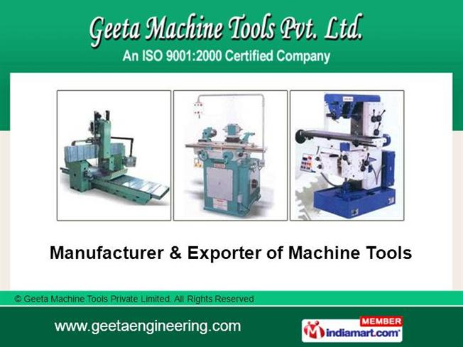 Universal Tool And Cutter Grinder Machine by Geeta Machine Tools