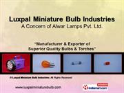 Tail Light Bulbs By Luxpal Miniature Bulb Industries Jaipur