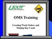 Creating Work Orders & Day Cards