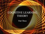 cognitive learning theory  part three