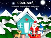 NATURE CHRISTMAS SCENE AT NIGHT EVENTS PPT TEMPLATE