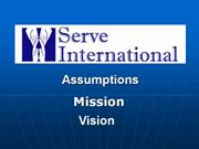 si assumptions,mission,vision