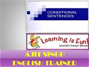 CONDITIONS IN ENGLISH GRAMMAR