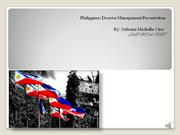 Philippines Disaster Management Presentation