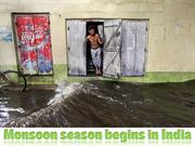Monsoon season begins in India