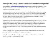 Appropriate Cutting Creates Lustrous Diamond Wedding Bands