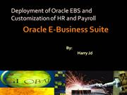 deployment of oracle ebs ,customization of hr and payroll