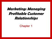 Managing Profitable CustomerRelationship