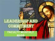 PPT for the Faculty Mass