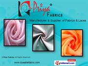 Embroidered Decorative Laces. By Priya Fabrics Surat