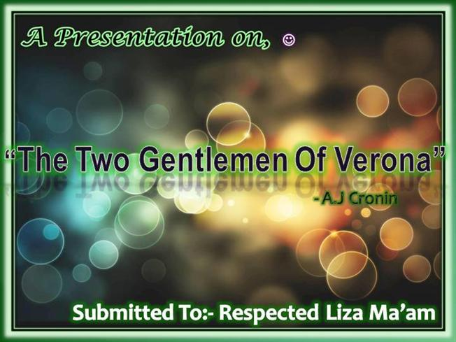 the two gentlemen of verona authorstream