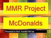 MMR McDonald Project