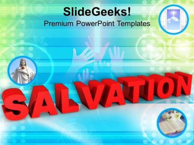 church salvation through jesus communication ppt template, Modern powerpoint
