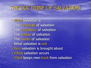 The Doctrine of Salvation by Jesse Morrell
