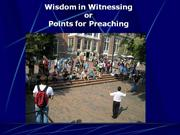 Wisdom in Witnessing by Jesse Morrell