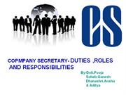 ROLES DUTIES AND RESPONSIBILITIES OF COMPANY SECRETARY
