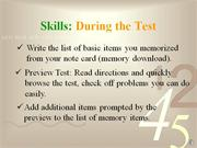 test taking strategies ii