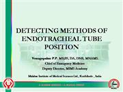 Detecting Methods of ET tube positions