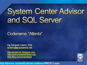 System Center Advisor and SQL Server