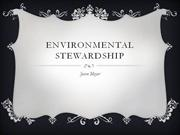 community and culture - environmental stewardship