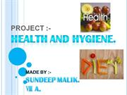 HEALTH AND HYGIENE.