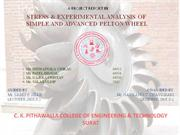 stress & experimental analysis of  simple and advanced pelton wheel
