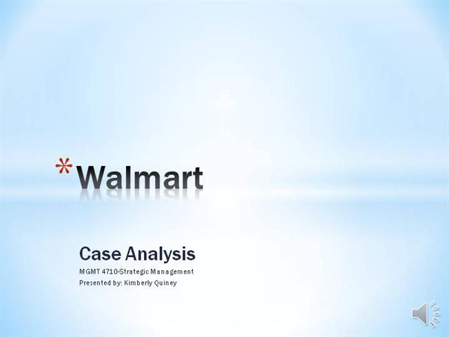wal mart case study analysis
