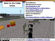 Web 2.0 in the Public Sector [Archive]