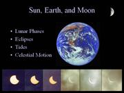 Sun Earth Moon Eclipses and Tides