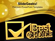 CONSULTING BEST CHOICE SYMBOL PPT TEMPLATE