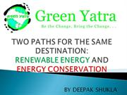 Renewable Energy & Energy Conservation by Green Yatra