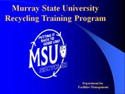 Recycle Training Program