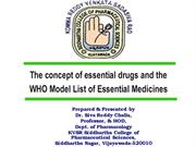 essential medicine concept by dr siva reddy