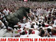 San Fermin festival  in Pamplona (SPAIN)