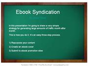 Ebook Syndication Traffic Technique