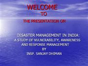 PRESENTATION ON DISASTER MANAGEMENT