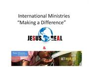 Two International Ministries Making a Difference