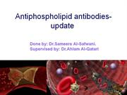 Antiphospholipid antibodies- update2
