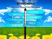 NATURE SERVICE SUPPORT SIGNPOST PPT TEMPLATE