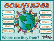 COUNTRIES AND NATIONALITIES - GAMES