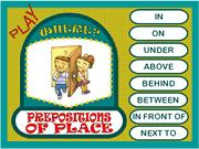 PREPOSITIONS OF PLACE - GAMEkkv