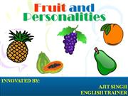 Fruits-and-Personalities