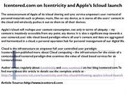 Icentered.com on Icentricity and Apple's Icloud launch