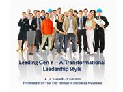 effective leadership for generation y