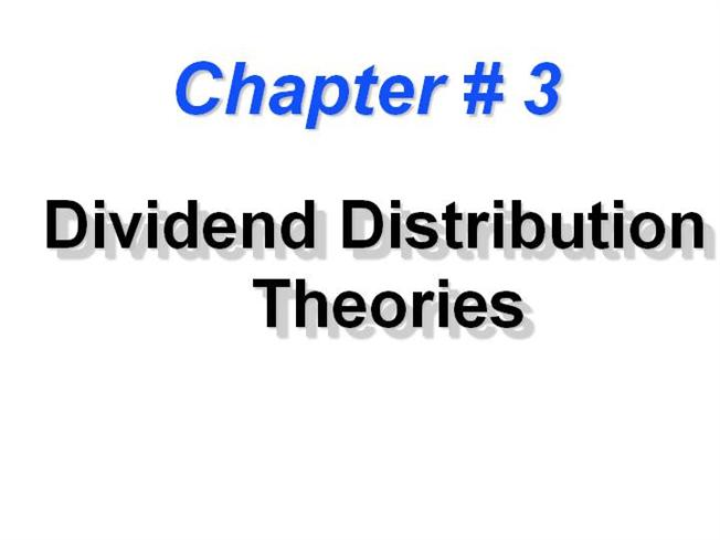 relevance and irrelevance theory of dividend