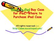 Where to Buy Case for iPad