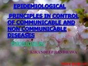 epidemiological principles in control of communicable and non communic