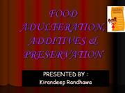 FOOD adulteration and additives