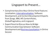 Bridging Gap Between Software Development and Localization